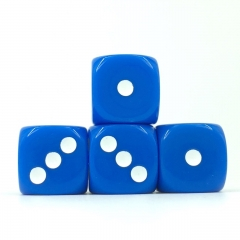 (Blue Opaque) 16mm D6 Pips dice