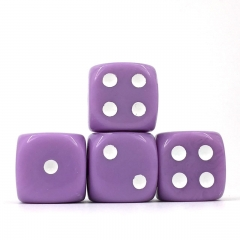 (Lavender Opaque) 16mm D6 Pips dice