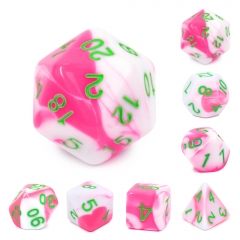 (Pink+White) Blend Color Dice
